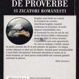 Dictionar de proverbe si zicatori romanesti